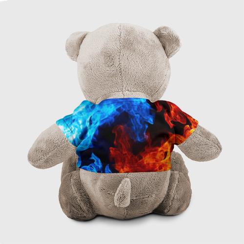 Мишка в футболке 3D Битва огней Фото 01