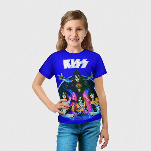 Детская футболка 3D  Фото 03, KISS