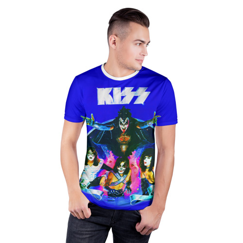 Мужская футболка 3D спортивная  Фото 03, KISS
