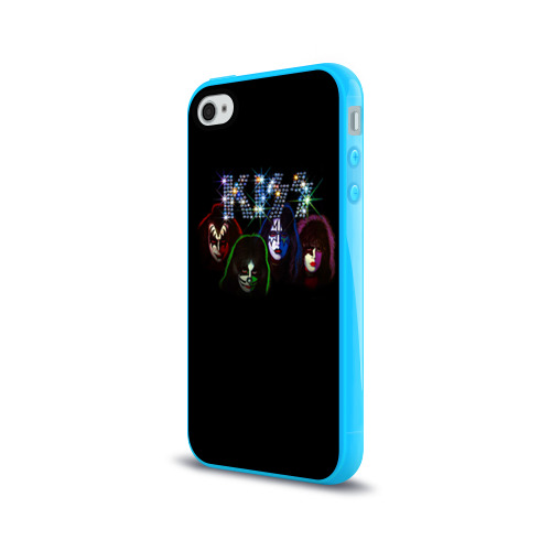 Чехол для Apple iPhone 4/4S силиконовый глянцевый KISS Фото 01