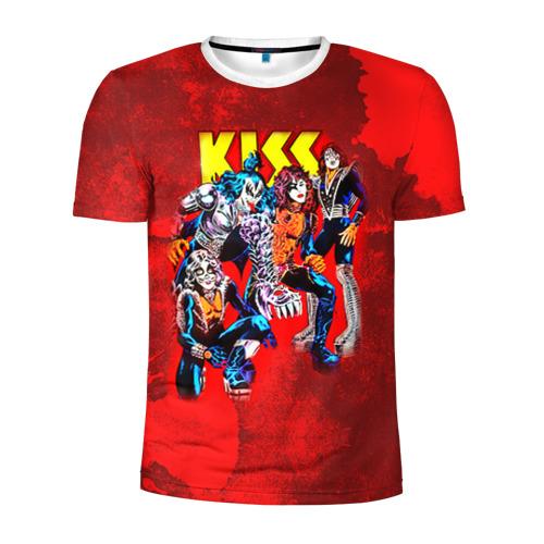 Мужская футболка 3D спортивная  Фото 01, KISS