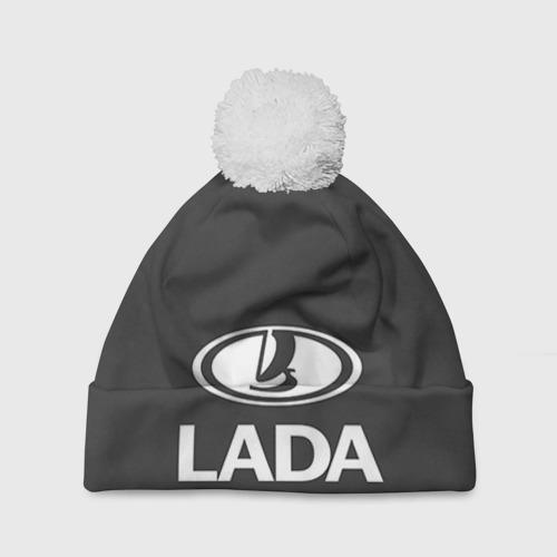 Шапка 3D c помпоном Lada