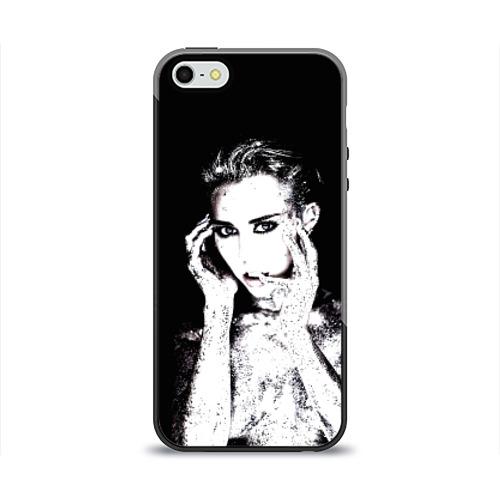 Чехол для Apple iPhone 5/5S силиконовый глянцевый  Фото 01, Miley