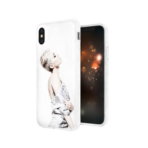 Чехол для Apple iPhone X силиконовый глянцевый  Фото 03, Miley