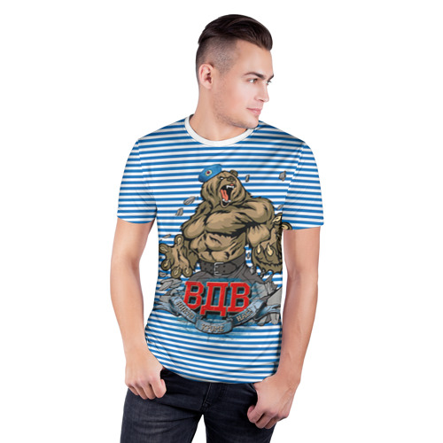 Мужская футболка 3D спортивная  Фото 03, ВДВ