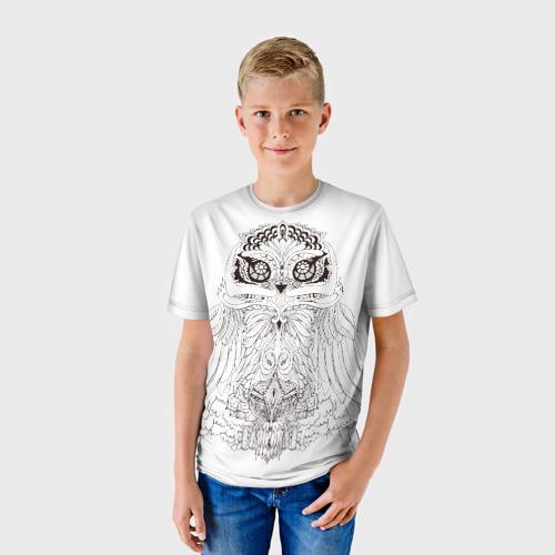 Детская футболка 3D Сова