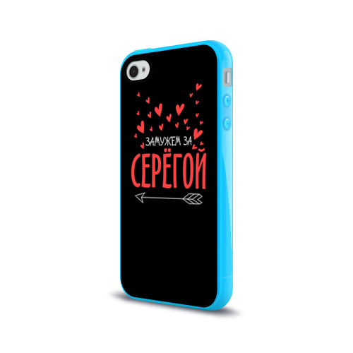 Чехол для Apple iPhone 4/4S силиконовый глянцевый Муж Сергей Фото 01