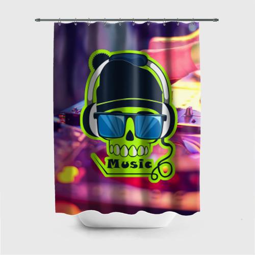 Штора 3D для ванной  Фото 01, DJ Music
