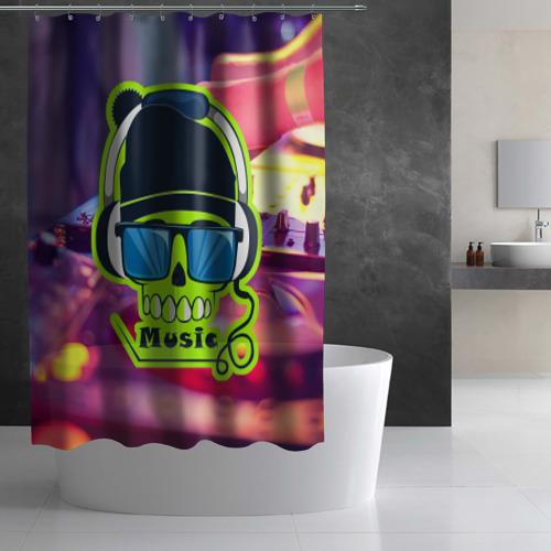 Штора 3D для ванной  Фото 03, DJ Music