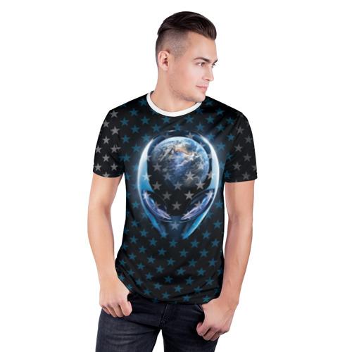 Мужская футболка 3D спортивная  Фото 03, Alien