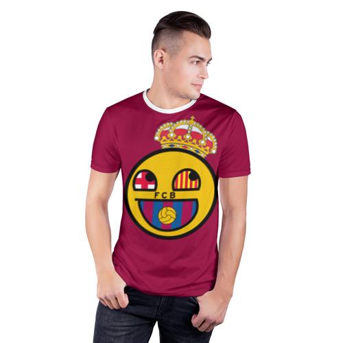 Мужская футболка 3D спортивная  Фото 03, FCB smile