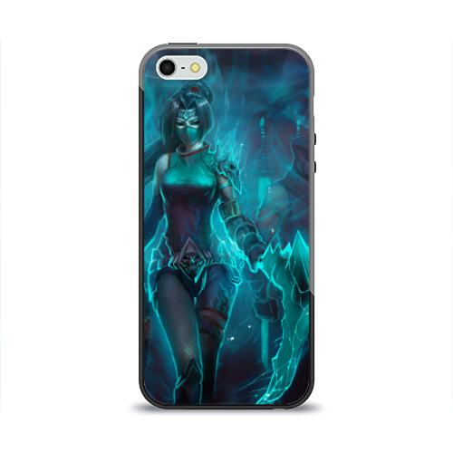 Чехол силиконовый глянцевый для Телефон Apple iPhone 5/5S League of Legends от Всемайки
