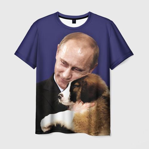 Мужская футболка 3D Путин Владимир