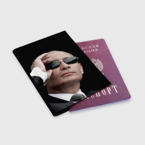 Обложка для паспорта матовая кожа  Фото 03, Путин Владимир