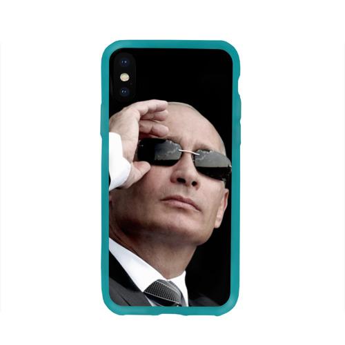 Чехол для Apple iPhone X силиконовый глянцевый Путин Владимир Фото 01
