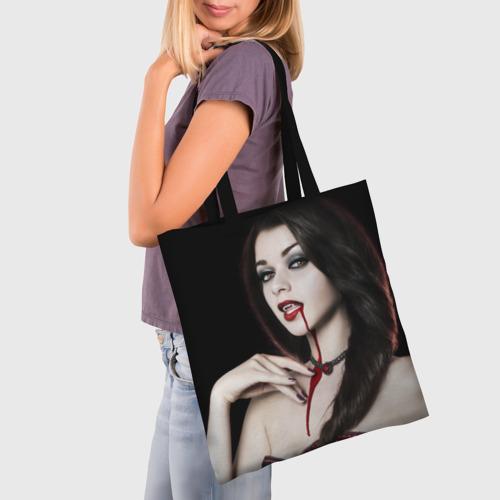 Сумка 3D повседневная Девушка вампир Фото 01