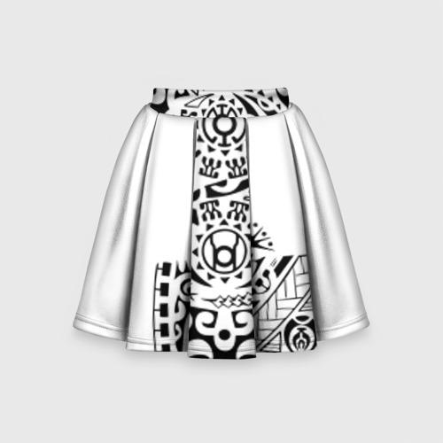 Детская юбка-солнце 3D Узор на белом