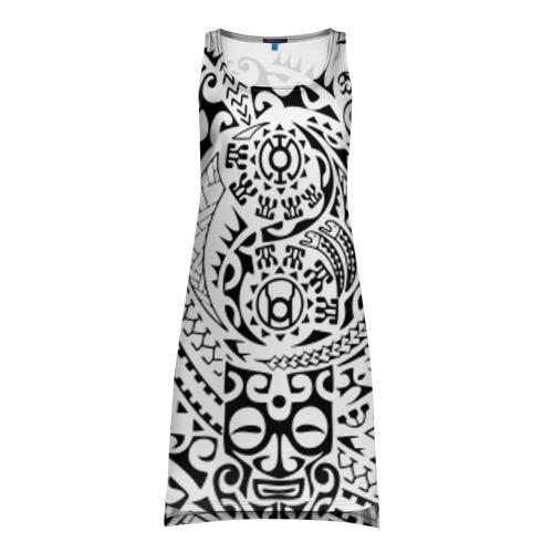 Платье-майка 3D Узор на белом