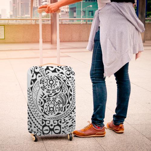 Чехол для чемодана 3D  Фото 04, Узор на белом