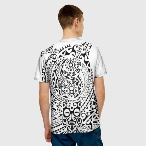 Мужская футболка 3D  Фото 02, Узор на белом