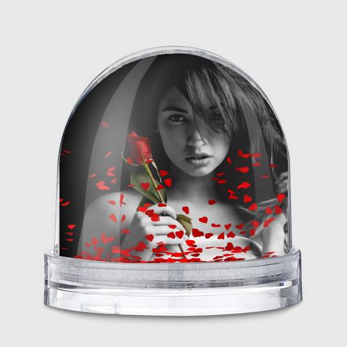 Водяной шар  Фото 01, Девушка с розой