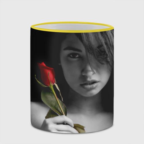 Кружка с полной запечаткой  Фото 03, Девушка с розой