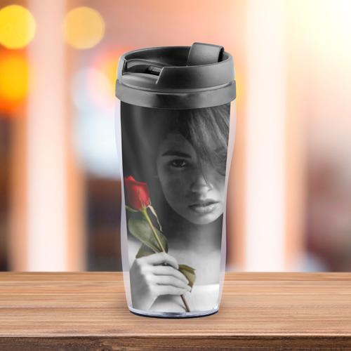 Термокружка-непроливайка  Фото 03, Девушка с розой