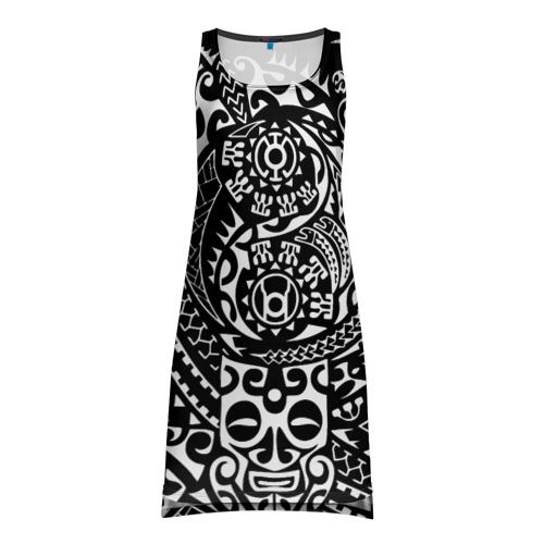 Платье-майка 3D Узор на черном