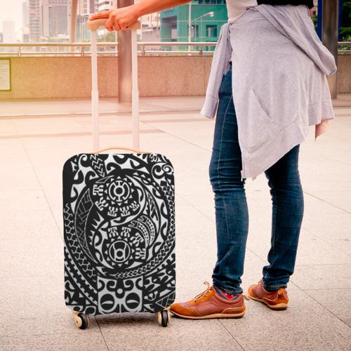 Чехол для чемодана 3D  Фото 04, Узор на черном