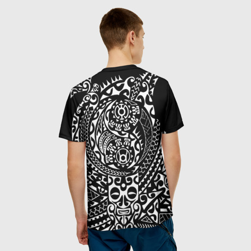 Мужская футболка 3D  Фото 02, Узор на черном