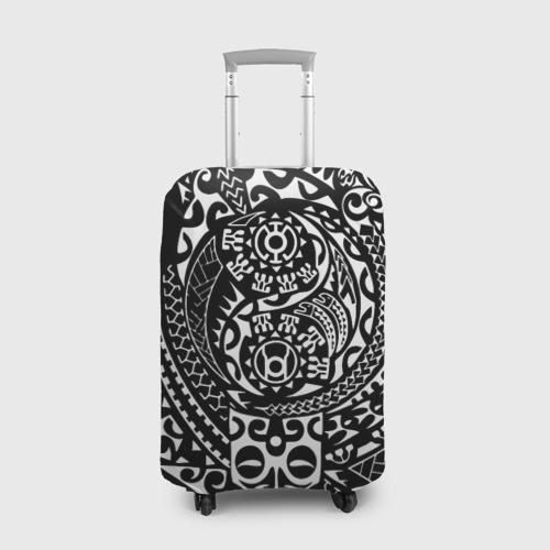 Чехол для чемодана 3D  Фото 01, Узор на черном