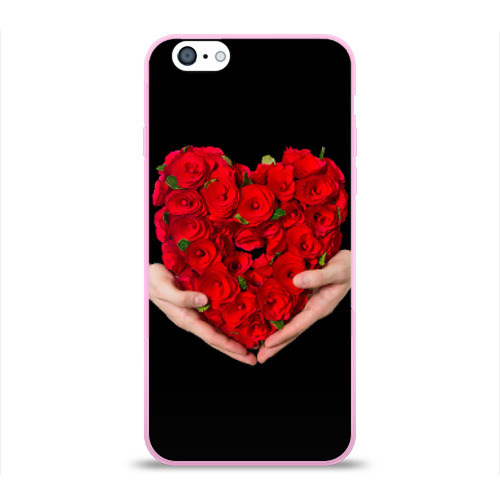 Чехол для Apple iPhone 6 силиконовый глянцевый  Фото 01, Сердце в руках