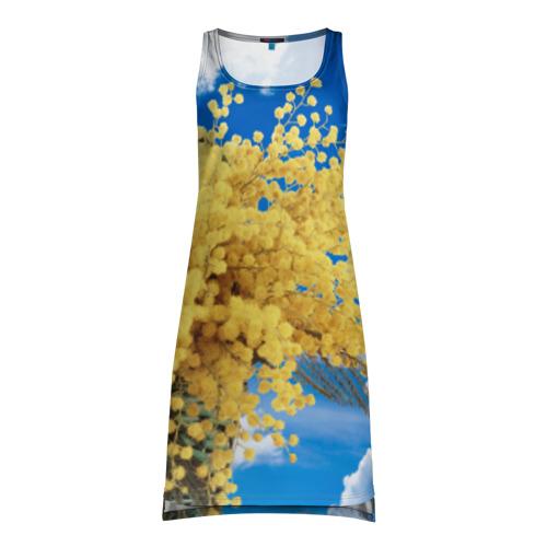 Платье-майка 3D  Фото 01, Мимозы