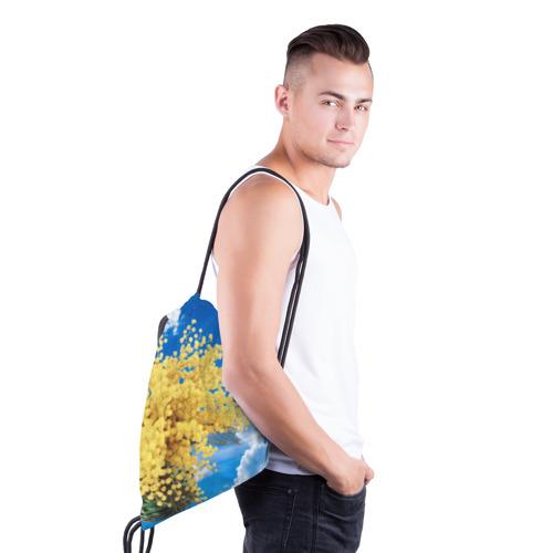 Рюкзак-мешок 3D  Фото 03, Мимозы