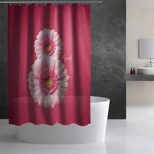 Штора 3D для ванной  Фото 03, Гарберы