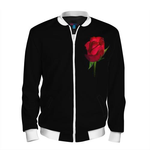 Мужской бомбер 3D  Фото 01, Розы за спиной
