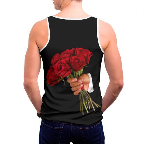 Мужская майка 3D  Фото 04, Розы за спиной