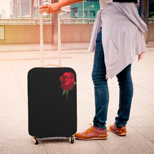 Чехол для чемодана 3D  Фото 04, Розы за спиной
