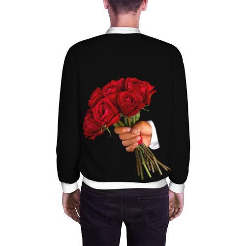 Мужской бомбер 3D  Фото 04, Розы за спиной