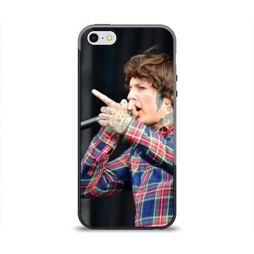 Чехол силиконовый глянцевый для Телефон Apple iPhone 5/5S Oliver Sykes от Всемайки