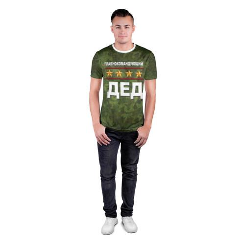 Мужская футболка 3D спортивная Главнокомандующий ДЕД