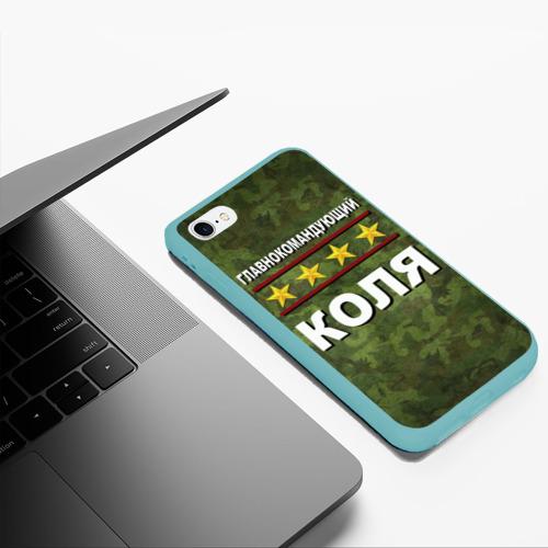 Чехол для iPhone 6Plus/6S Plus матовый Главнокомандующий Коля Фото 01