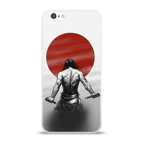 Чехол для Apple iPhone 6 силиконовый глянцевый  Фото 01, Самурай 1