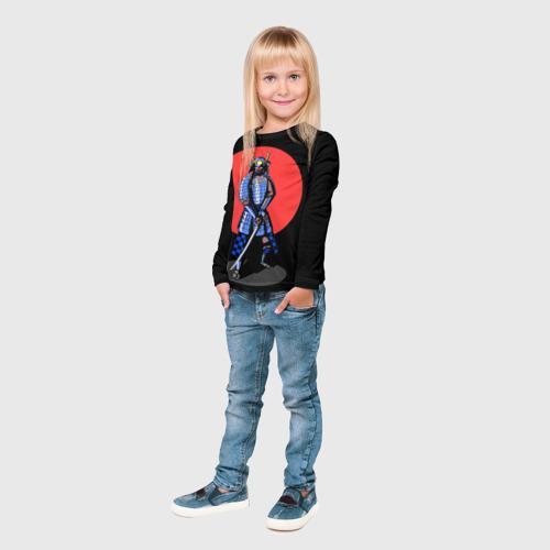 Детский лонгслив 3D  Фото 04, Самурай 2