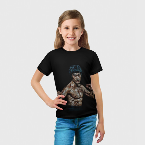 Детская футболка 3D  Фото 03, Брюс Ли