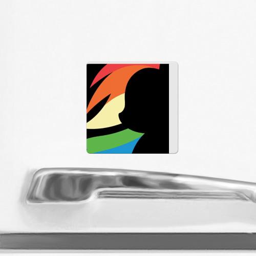 Магнит виниловый Квадрат  Фото 02, Rainbow Dash