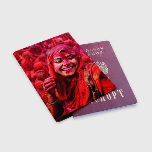 Обложка для паспорта матовая кожа  Фото 03, Фестиваль красок Холи
