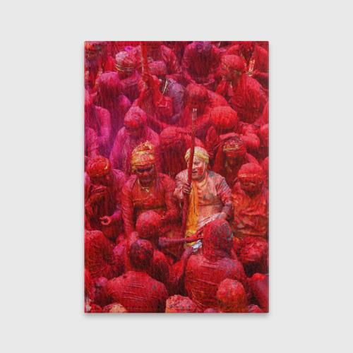 Обложка для паспорта матовая кожа  Фото 02, Фестиваль красок Холи