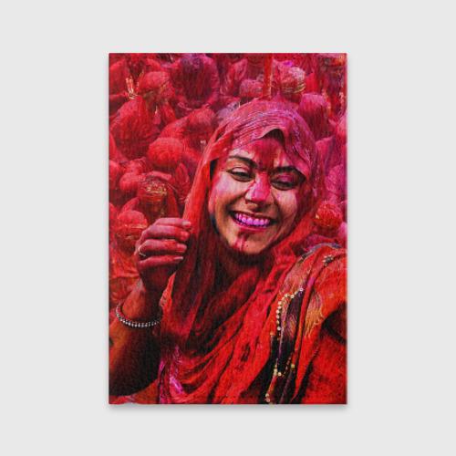 Обложка для паспорта матовая кожа  Фото 01, Фестиваль красок Холи