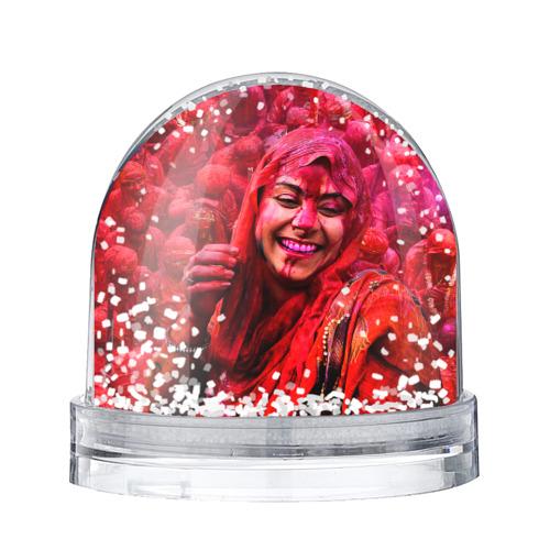 Водяной шар со снегом Фестиваль красок Холи